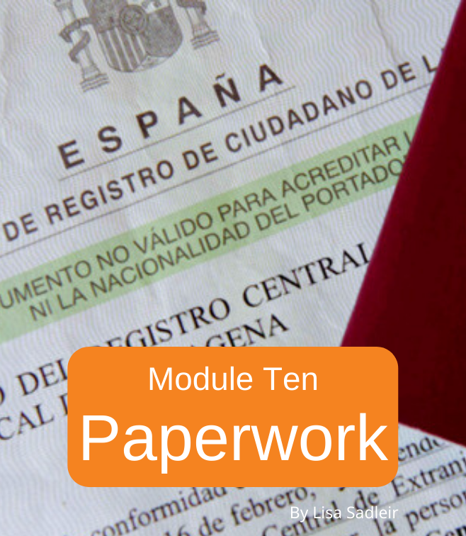 moving to spain online paperwork